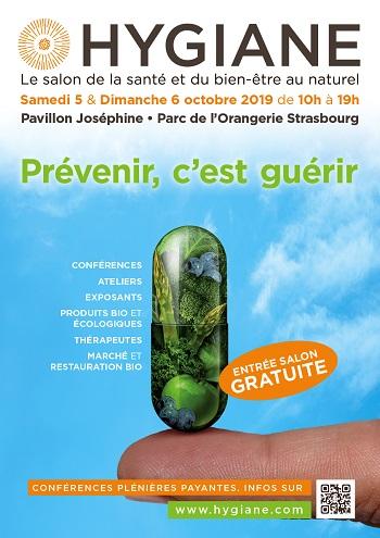 5-6 Octobre 2019 – Salon HYGIANE au Parc de l'Orangerie à Strasbourg